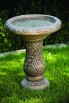 One Piece Ivy Bird Bath 22