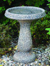 Pebble Bird Bath Natural Garden Art
