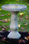 Modern Scroll Bird Bath
