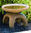 Oriental Bird Bath with Asian Flair Sculpture