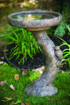 Woodscape Cement Garden Bird Bath