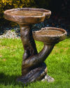Double Pool Woodscape Bird Bath