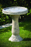 Wild Flower Bird Bath Garden Decor