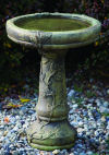 One Piece Round Vineyard Bird Bath