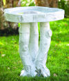 Birch Wood Bird Bath Garden Sculpture