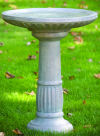 Festooned Bird Bath 33.5