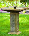 Square Garden Bird Bath 32.75