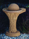 Basketball Bird Bath Garden Sculpture