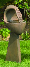 One Piece Football Bird Bath Sculpture