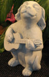 Dog playing Guitar whimsical statuary