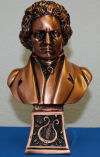 Beethoven Bust Faux Bronze
