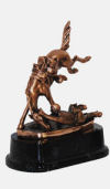 Remington Wicked Western Pony Ride Statue