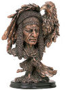 Indian Chief Bust With Feathers & Eagle