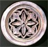 Ornate Round Palm Grille Wall Hanging