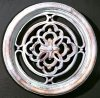 Gothic Round Grille Wall Decor
