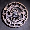 Arabic Gear Clock Sculptural Wall Decor