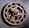 Arabic Gear Clock Small