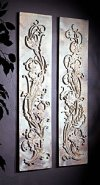 Floral Vines Set Relief Wall Decor