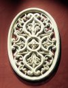 Oval Grille Wall Hanging Ornate Decor