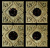 Mini Rosettes Relics On French Panel Wall Decor Set