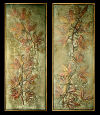 Exhibition Framed Maple Leaf Frescos Bas-Reliefs