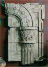 Corinthian Column Fragment Sculptural Wall Decor