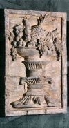Fruit Basket Wall Frieze High-Relief