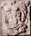 Male Torso Wall Frieze Plaque 34