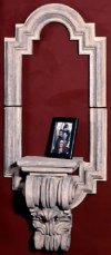 Renaissance Architectural Wall Hanging with Shelf