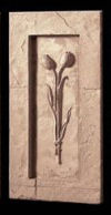 Tulip Floral Frieze With Frame Wall Hanging