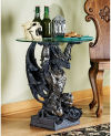 The Warrior Dragon Sculpture Table