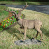 Grand-scale Black Forest Garden Deer Resin