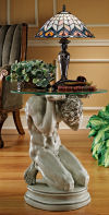 Neoclassical Male Occasional Table Sculpture