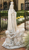 Our Lady Of Fatima with Children Sculpture Large