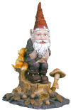 Einstein Thinker Garden Gnome Statue