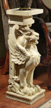Trapezophoron Winged Lion Pedestal