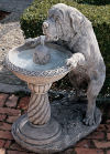 Dog Leaning On Fountain For A Drink Sculpture