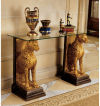 Royal Egyptian Cheetahs Console Sculptures