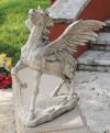 Grand Pegasus Winged Horse Sculpture