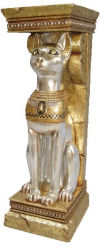 Egyptian Cat Goddess Bastet Pedestal
