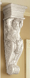 Telamon Wall Sculpture Caryatid Male Bracket