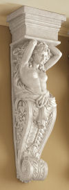 Caryatid Wall Sculpture Reproduction