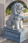 Giant Foo Dog Of The Forbidden City Statue