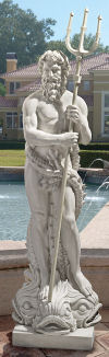 Poseidon God Of The Sea Large Statue