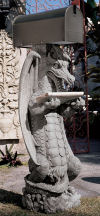 Dragon Zippy Sculptural Mail Post