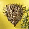 Tibetan Sculptural Dragon Wall Mask