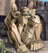 Feast On Fools Gargoyle Statue 19.5