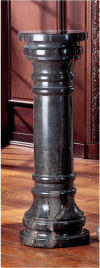 Charcoal Solid Marble Column
