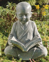 Baby Buddha Studying The Five Precepts Sculpture