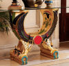 Egyptian Wings Of Horus Altar Console Table